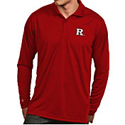 Antigua Men's Rutgers Scarlet Knights Scarlet Exceed Long Sleeve Polo