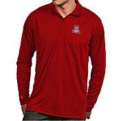 Antigua Men's Arizona Wildcats Cardinal  Exceed Long Sleeve Polo