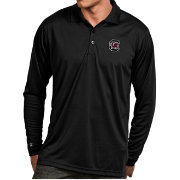 Antigua Men's South Carolina Gamecocks Black Exceed Long Sleeve Polo
