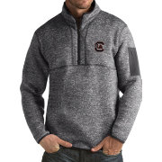 Antigua Men's South Carolina Gamecocks Grey Fortune Pullover Jacket