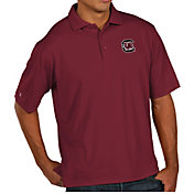 Antigua Men's South Carolina Gamecocks Garnet Pique Xtra-Lite Polo