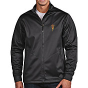 Antigua Men's Arizona State Sun Devils Grey Full-Zip Golf Jacket
