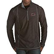 Antigua Men's Southern Illinois  Salukis Black Tempo Half-Zip Pullover