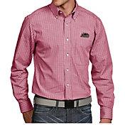 Antigua Men's Southern Illinois  Salukis Maroon Associate Button Down Long Sleeve Shirt