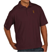 Antigua Men's Arizona State Sun Devils Maroon Pique Xtra-Lite Polo