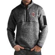 Antigua Men's Stanford Cardinal Black Fortune Pullover Jacket