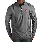 Antigua Men's Stanford Cardinal Grey Tempo Half-Zip Pullover