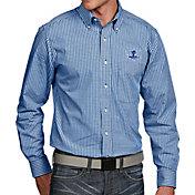 Antigua Men's Seton Hall Seton Hall Pirates Blue Associate Button Down Long Sleeve Shirt