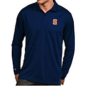 Antigua Men's Syracuse Orange Blue Exceed Long Sleeve Polo