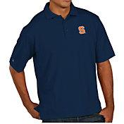 Antigua Men's Syracuse Orange Blue Pique Xtra-Lite Polo