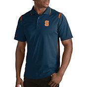 Antigua Men's Syracuse Orange Merit Xtra-Lite Blue Polo