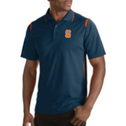 Antigua Men's Syracuse Orange Merit Xtra-Lite Blue Polo