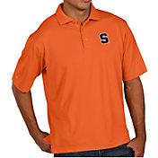 Antigua Men's Syracuse Orange Orange Pique Xtra-Lite Polo
