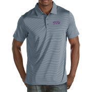 Antigua Men's TCU Horned Frogs Grey Quest Polo