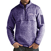 Antigua Men's TCU Horned Frogs Purple Fortune Pullover Jacket