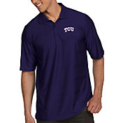 Antigua Men's TCU Horned Frogs Purple Illusion Polo