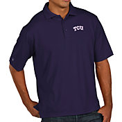 Antigua Men's TCU Horned Frogs Purple Pique Xtra-Lite Polo