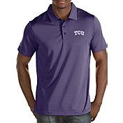 Antigua Men's TCU Horned Frogs Purple Quest Polo
