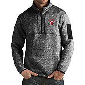 Antigua Men's Utah Utes Black Fortune Pullover Jacket