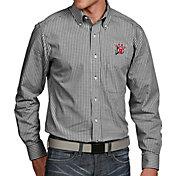 Antigua Men's Utah Utes Black Associate Button Down Long Sleeve Shirt