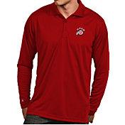Antigua Men's Utah Utes Crimson Exceed Long Sleeve Polo