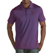 Antigua Men's Tulsa Golden Hurricane Blue/Crimson Quest Polo