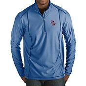 Antigua Men's Tulsa Golden Hurricane Blue Tempo Half-Zip Pullover