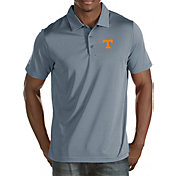 Antigua Men's Tennessee Volunteers Grey Quest Polo