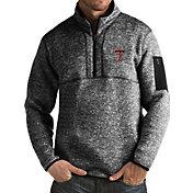Antigua Men's Texas Tech Red Raiders Black Fortune Pullover Jacket