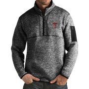 Antigua Men's Texas Tech Red Raiders Black Fortune Pullover Jacket