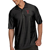 Antigua Men's Texas Tech Red Raiders Black Illusion Polo