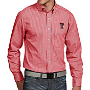 Antigua Men's Texas Tech Red Raiders Red Associate Button Down Long Sleeve Shirt