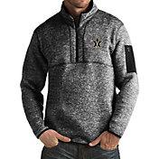 Antigua Men's Vanderbilt Commodores Black Fortune Pullover Jacket
