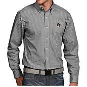 Antigua Men's Vanderbilt Commodores Black Associate Button Down Long Sleeve Shirt