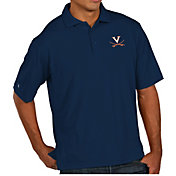 Antigua Men's Virginia Cavaliers Blue Pique Xtra-Lite Polo