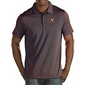 Antigua Men's Virginia Cavaliers Blue/Orange Quest Polo
