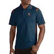 Antigua Men's Virginia Cavaliers Merit Xtra-Lite Blue Polo
