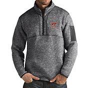 Antigua Men's Virginia Tech Hokies Grey Fortune Pullover Jacket