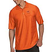 Antigua Men's Virginia Tech Hokies Burnt Orange Illusion Polo