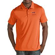 Antigua Men's Virginia Tech Hokies Burnt Orange Quest Polo
