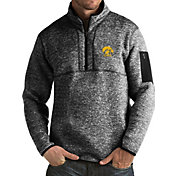 Antigua Men's Iowa Hawkeyes Black Fortune Pullover Jacket