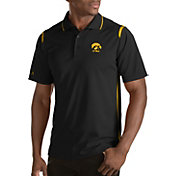 Antigua Men's Iowa Hawkeyes Merit Xtra-Lite Black Polo