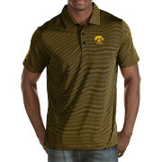 Antigua Men's Iowa Hawkeyes Black Quest Polo
