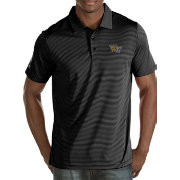 Antigua Men's Wake Forest Demon Deacons Black Quest Polo