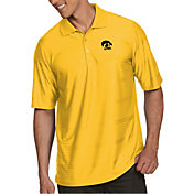 Antigua Men's Iowa Hawkeyes Gold Illusion Polo