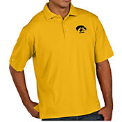 Antigua Men's Iowa Hawkeyes Gold Pique Xtra-Lite Polo