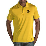 Antigua Men's Iowa Hawkeyes Gold Quest Polo