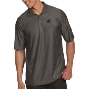 Antigua Men's Washington Huskies Grey Illusion Polo