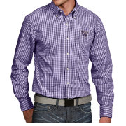 Antigua Men's Washington Huskies Purple Associate Button Down Long Sleeve Shirt