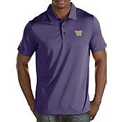 Antigua Men's Washington Huskies Purple Quest Polo